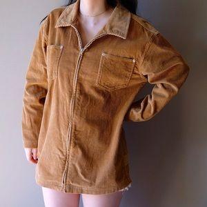 Corduroy zipper shirt
